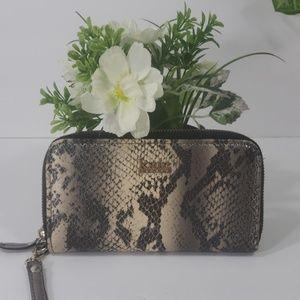 Kate landry wallet snake print